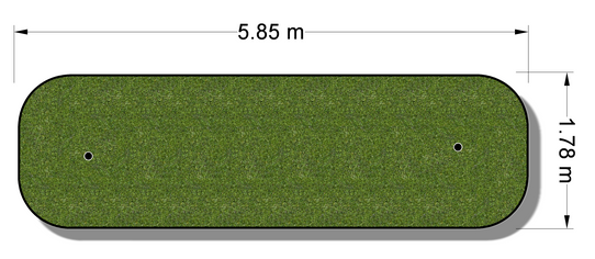 Indendørs putting green model TP30